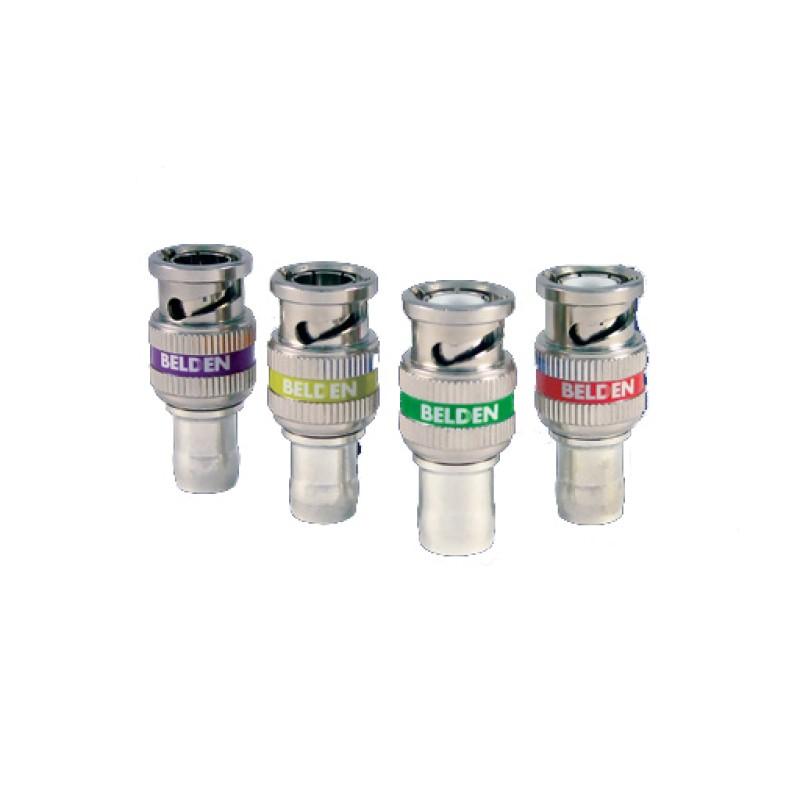 Conectores de compresión HD BNC de 1 pieza para cables Belden 1855A, 1505A, 1694A