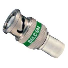 Conector Coaxial / RF, No Plenum, HD BNC Coaxial, Macho Recto, Compresión, 75 ohm, RG6