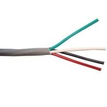 Cable Multiconductor, Seguridad y Alarma, Sin blindaje, 4 Hilos, 22 AWG