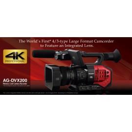 Videocamara 4K con sensor de cuatro tercios y lente de zoom Panasonic AG-DVX200