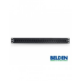 Patch Panel CAT6 + KeyConnect, 24 puertos, 1U, negro Belden