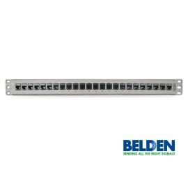 Patch Panel, 24 puertos, 1U, Titanio 10GX KeyConnect Belden