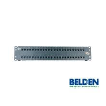 Patch Panel CAT6 + KeyConnect, 48 puertos, 2U, negro Belden