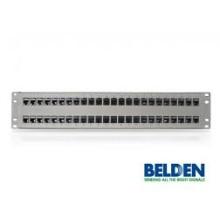Patch Panel, 48 puertos, 2U, Titanio 10GX KeyConnect Belden