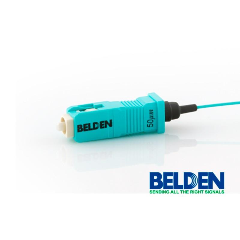 Conector LC, Brilliance FX universal, multimodo OM3 / OM4 50 µm, incluye funda de 900 µm, Belden, paquete de 25.