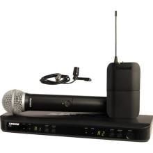 Sistema de micrófonos inalámbricos combinados de doble canal de mano y lavalier Shure BLX1288 / CVL (J10: 584 - 608 MHz)