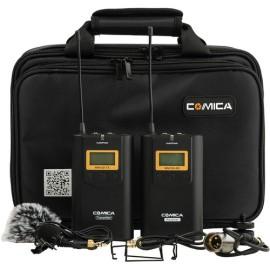 Sistema inalámbrico UHF de montaje en cámara Comica Audio CVM-WM100 (520.0 a 534.1 MHz)