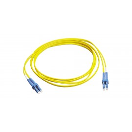 Patch Cord de conexión FiberExpress, OS2, LC dúplex a LC dúplex, 2 m