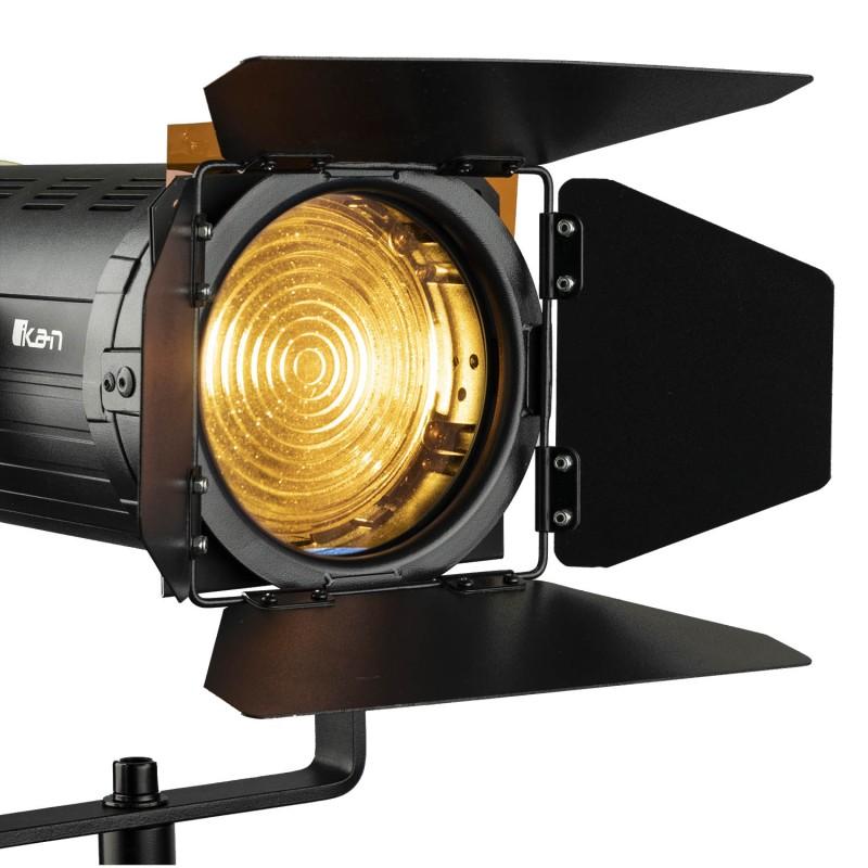 HELIA - Luz de estudio LED Bicolor FRESNEL de 150 Vatios y  4 Pulg, con DMX