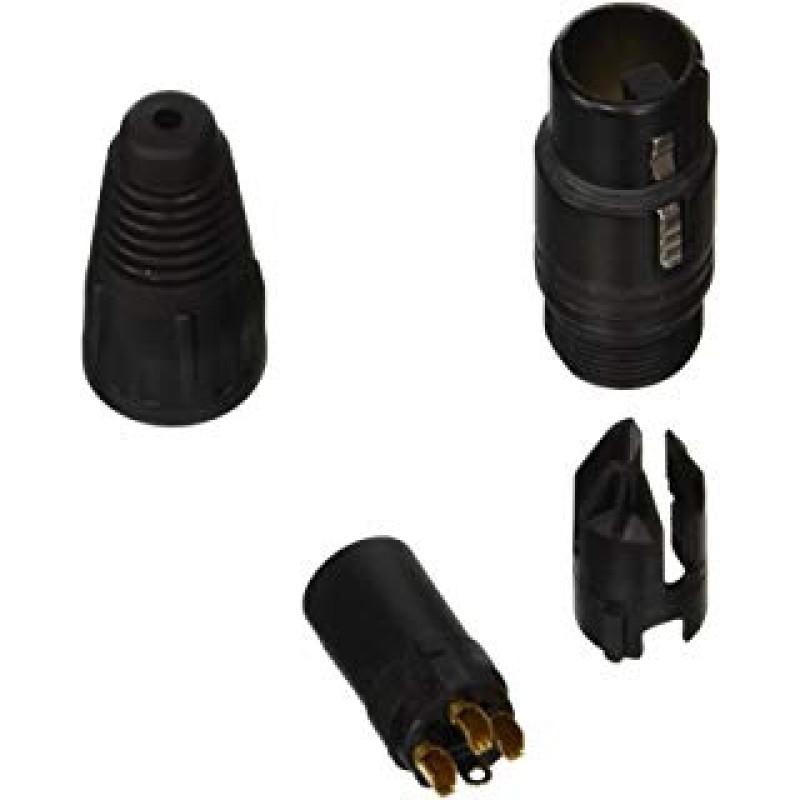 Conector XLR, 3 Contactos, Macho, Montaje de cable, Contactos con Recubrimiento de Oro