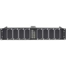 """Datavideo 19 """"Montaje en bastidor con fuente de alimentación para ocho convertidores DAC seleccionados (2 RU)"""